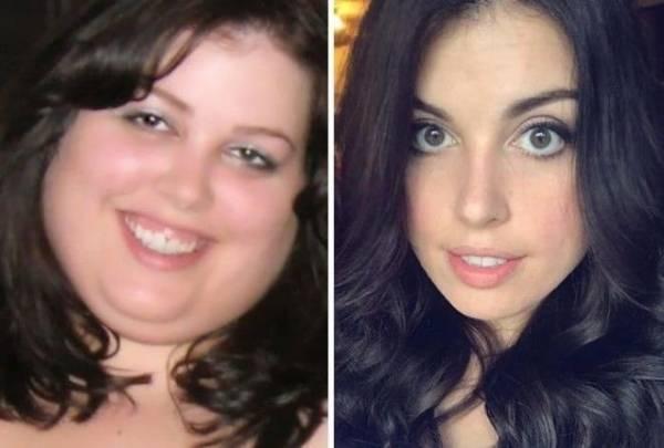 лица людей похудевших